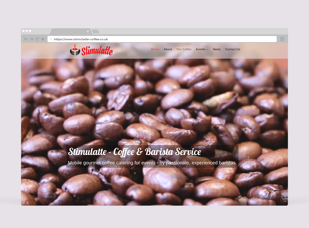 Stimulatte Coffee - Website Design