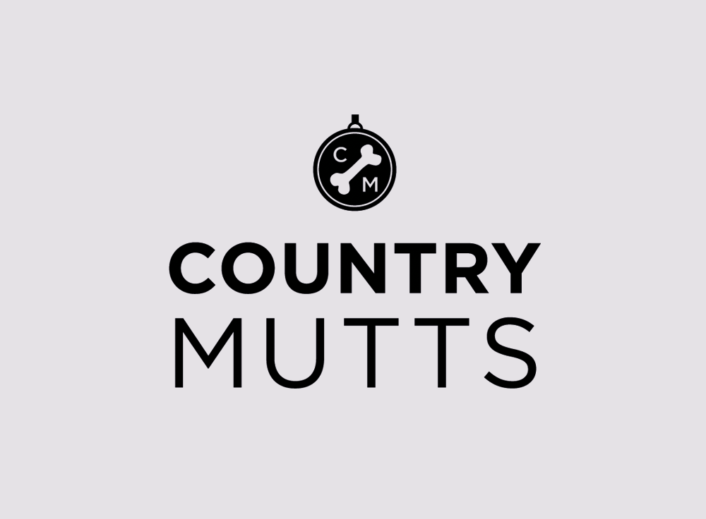 Country Mutts black and white logo