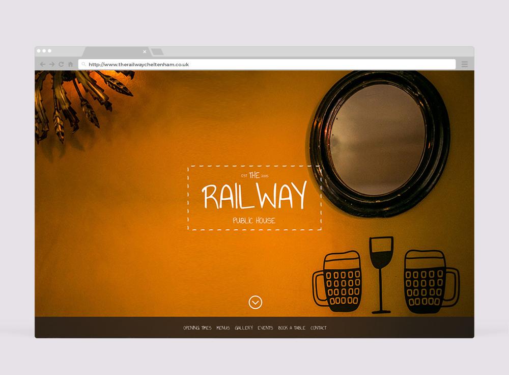 The Railway Cheltenham Website Design