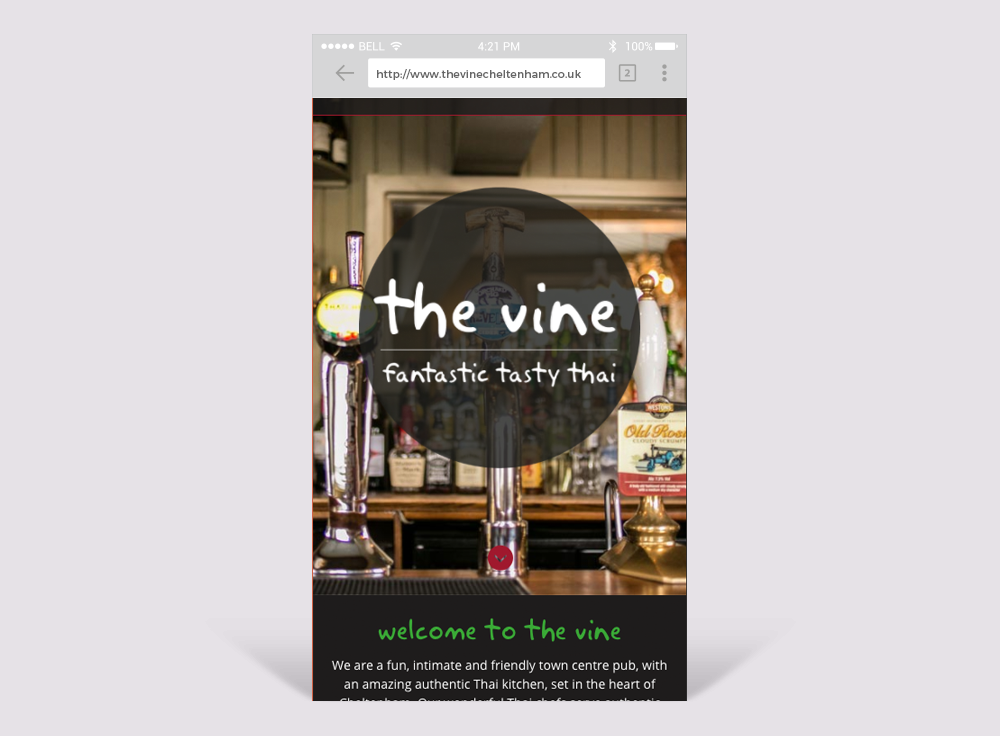 The Vine Cheltenham Mobile Friendly Website Design